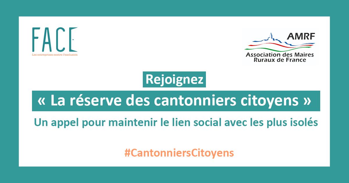 COVID-19 : rejoignez la réserve des cantonniers citoyens !